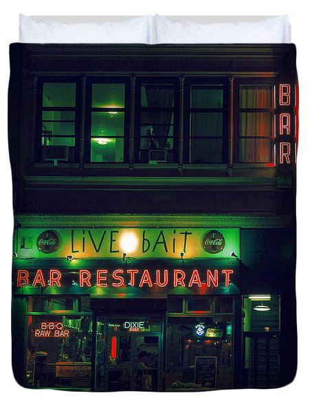 Live Bait Duvet Cover by Andrew Paranavitana