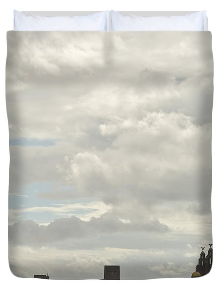 Liverpool Skyline Duvet Cover by Georgia Fowler