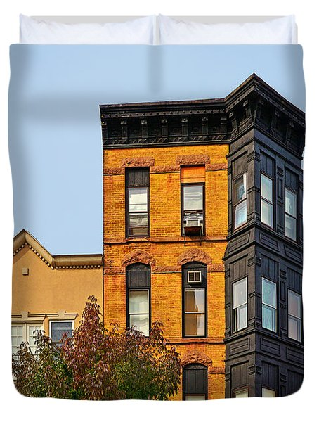 Living in Chicago Lincoln Park Duvet Cover by Christine Till