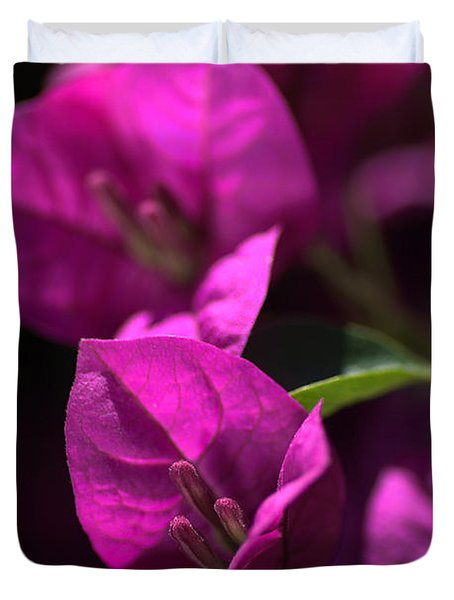 Living With Bougainvillea Duvet Cover by Joy Watson