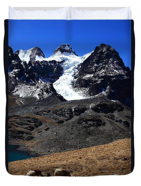 Llama Paradise Duvet Cover by James Brunker