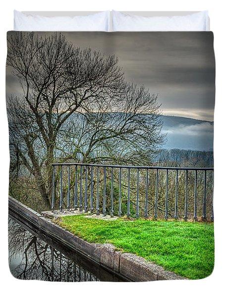 Llangollen Canal  Duvet Cover by Adrian Evans