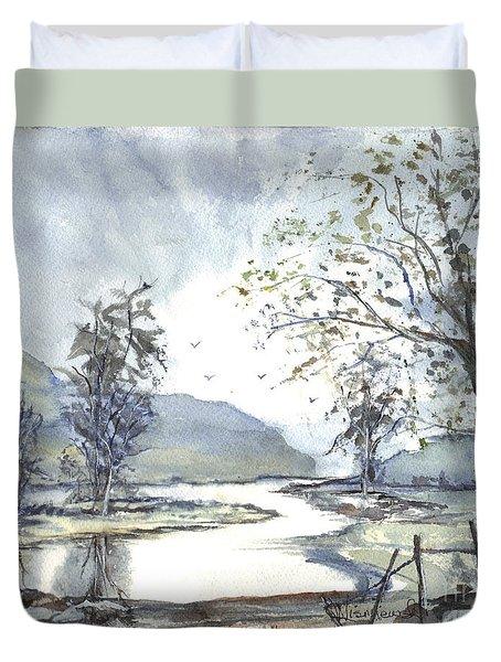Loch Goil Scotland Duvet Cover by Carol Wisniewski