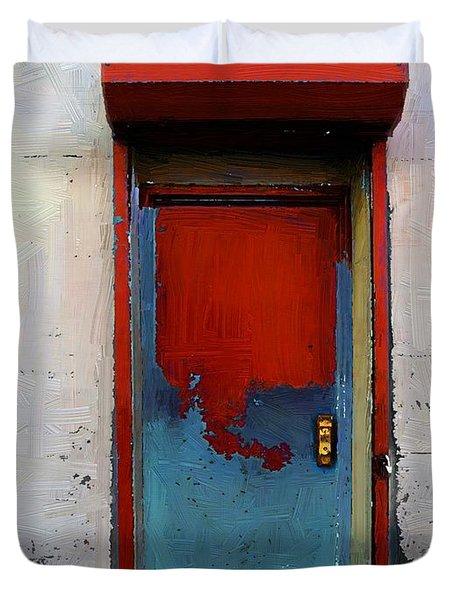 Locked Door, Hell's Kitchen Duvet Cover by RC deWinter