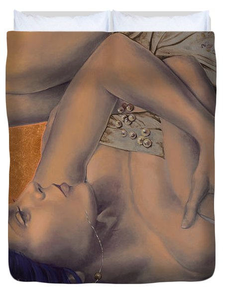 Locked in Silence Duvet Cover by Dorina  Costras