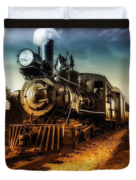 Locomotive Number 4 Duvet Cover by Bob Orsillo