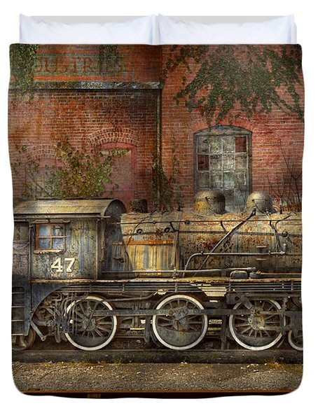 Locomotive - Our Old Family Business Duvet Cover by Mike Savad