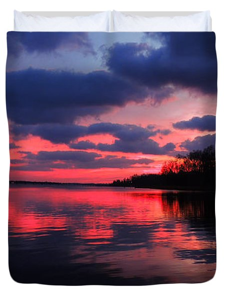 Locust Sunset Duvet Cover by Raymond Salani III