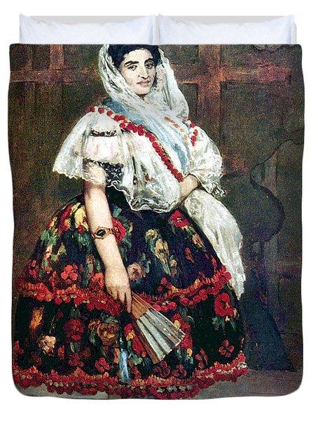 Lola Of Valencia Duvet Cover by Edouard Manet