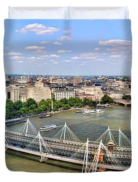 London Panorama Duvet Cover by Mariola Bitner