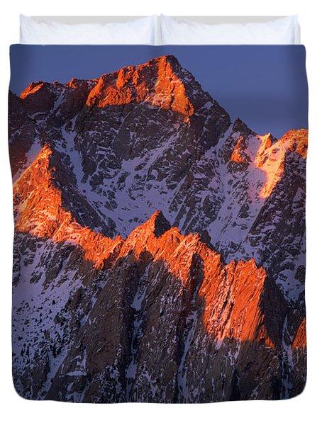 Lone Pine Peak Duvet Cover by Inge Johnsson