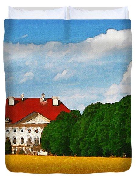 Lonely Mansion Duvet Cover by Ayse Deniz