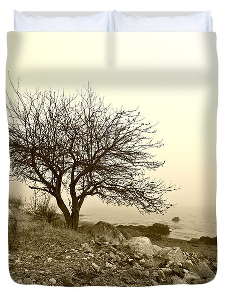 Lonely Road Duvet Cover by Bill Caldwell -        ABeautifulSky Photography