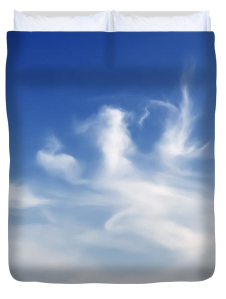 Lonely Seagull Duvet Cover by Setsiri Silapasuwanchai