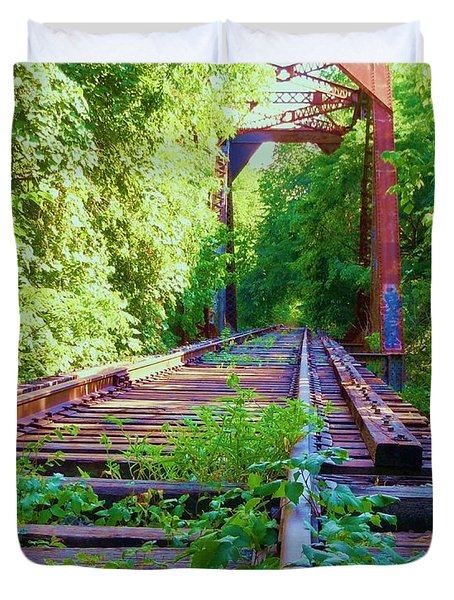Lonesome Railroad #5 Duvet Cover by Robert ONeil