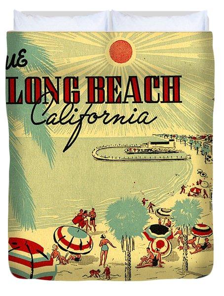 Long Beach 1946 Duvet Cover by Georgia Fowler