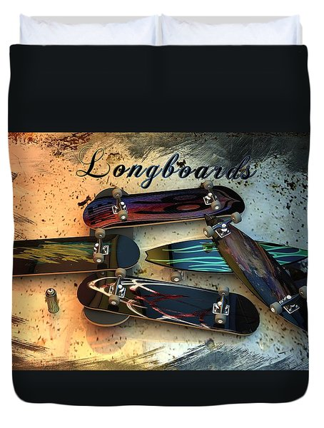 Longboards Duvet Cover by Louis Ferreira