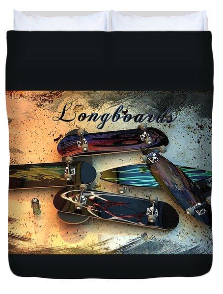 Longboards Duvet Cover by Louis Ferreira