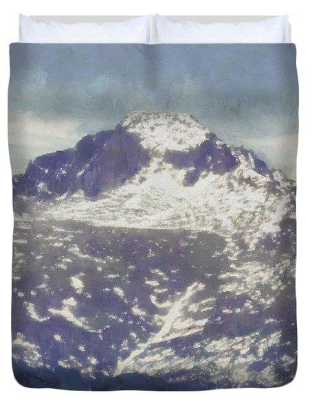 Longs Peak Duvet Cover by Dan Sproul