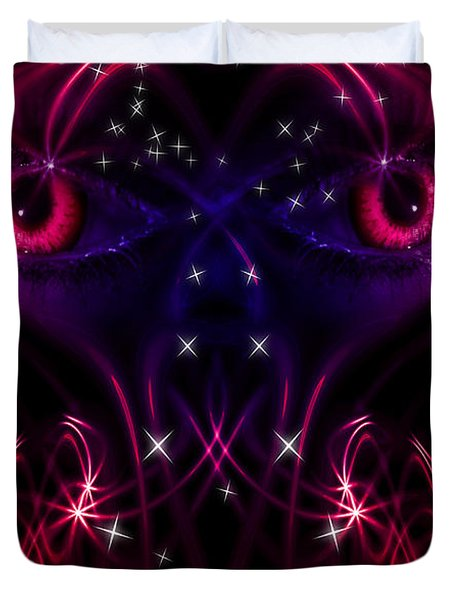 Look into my eyes Duvet Cover by Nathan Wright