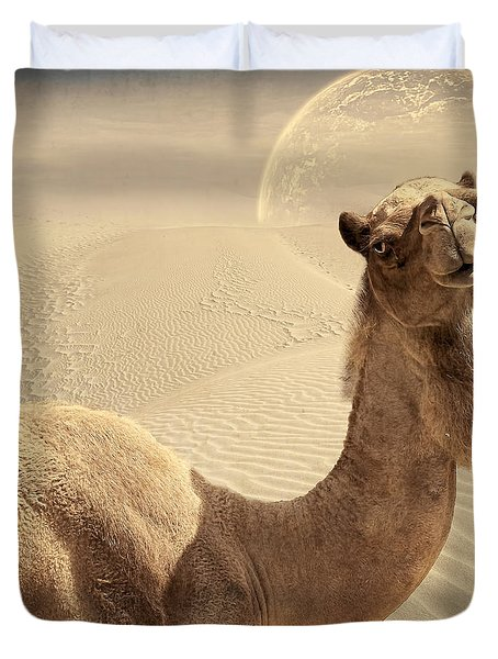 Looking At Ya Duvet Cover by Lourry Legarde