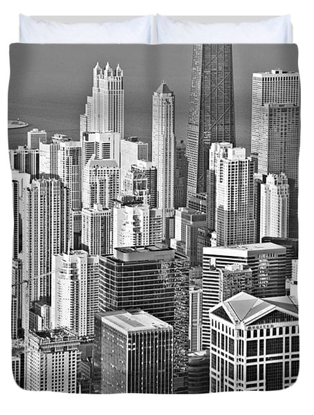 Looking Down At Beautiful Chicago Duvet Cover by Christine Till