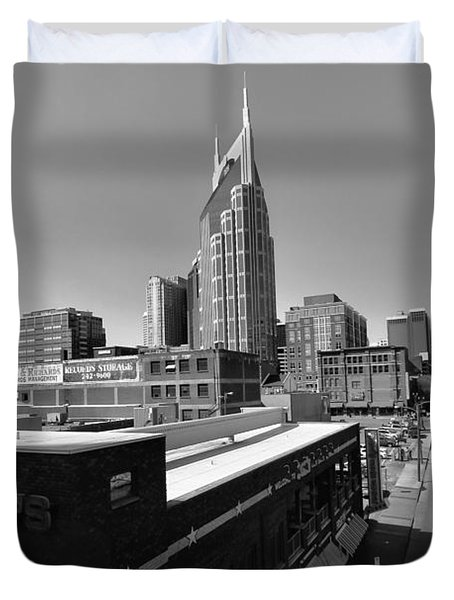 Looking Down On Nashville Duvet Cover by Dan Sproul