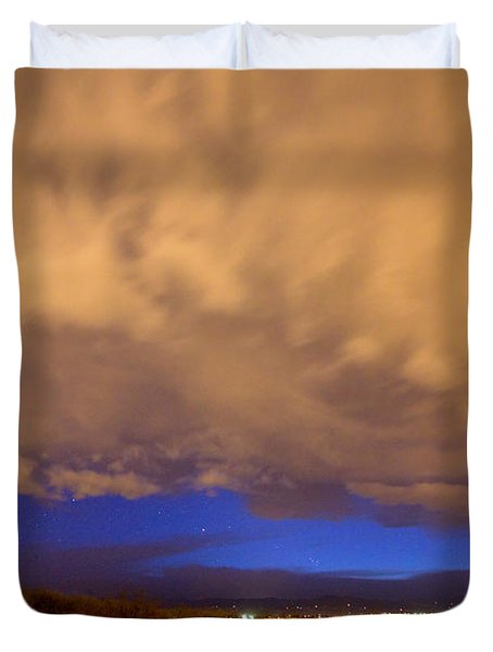 Looking Through The Storm Duvet Cover by James BO  Insogna