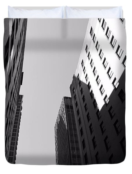 Looking Up In Nashville Black And White Duvet Cover by Dan Sproul