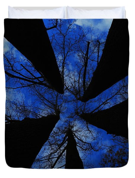 Looking Up Duvet Cover by Raymond Salani III