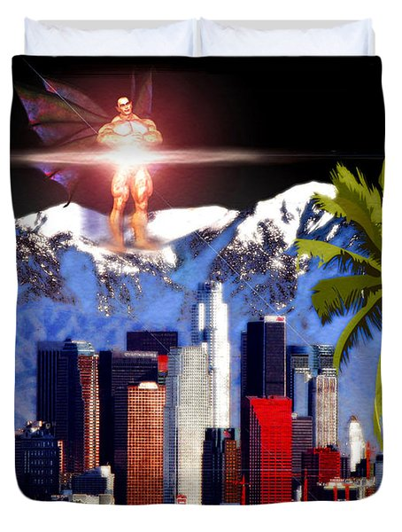Los Angeles Duvet Cover by Daniel Janda