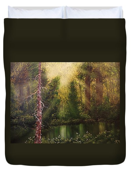 Lost In Thought Duvet Cover by Xochi Hughes Madera