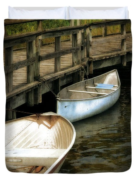 Lost Lake Boardwalk Duvet Cover by Michelle Calkins