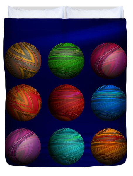 Lost My Marbles Duvet Cover by Mary Machare