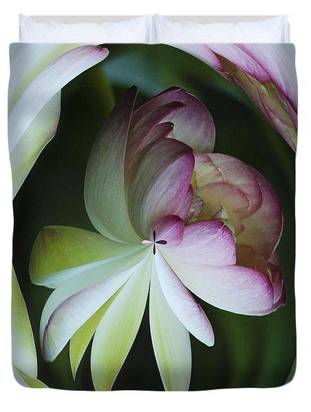 Lotus Mirror Duvet Cover by Jean Noren