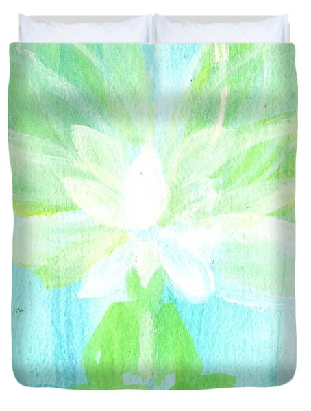Lotus Petals Awakening Spirit Duvet Cover by Ashleigh Dyan Bayer