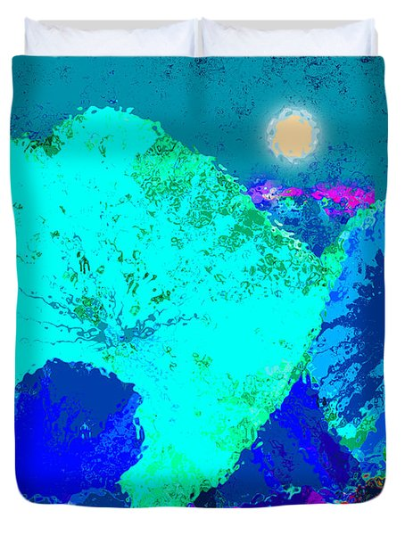 Lotus Sleeping Duvet Cover by John Lautermilch