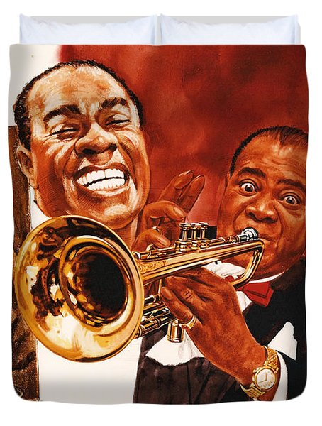 Louis Armstrong Duvet Cover by Dick Bobnick