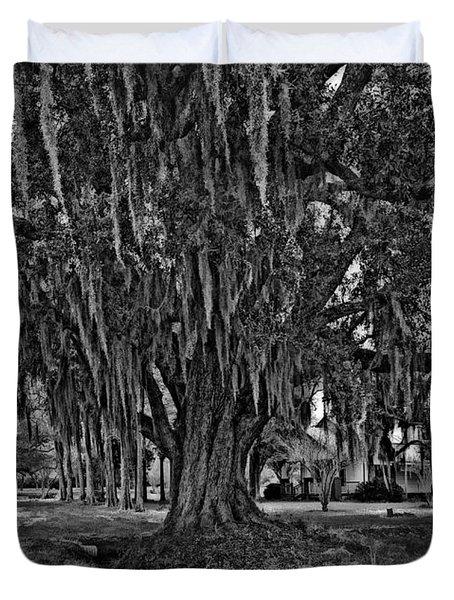 Louisiana Moon Rising Monochrome  Duvet Cover by Steve Harrington