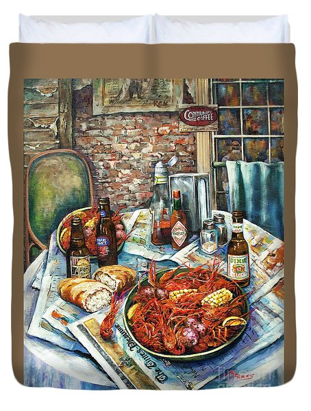 Louisiana Saturday Night Duvet Cover by Dianne Parks