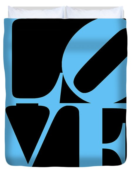 LOVE 20130707 Blue Black Duvet Cover by Wingsdomain Art and Photography