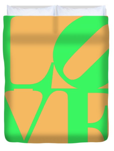 Love 20130707 Green Orange Duvet Cover by Wingsdomain Art and Photography