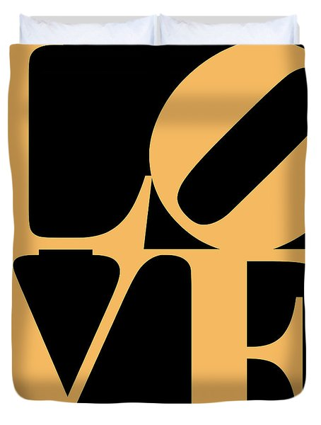 Love 20130707 Orange Black Duvet Cover by Wingsdomain Art and Photography