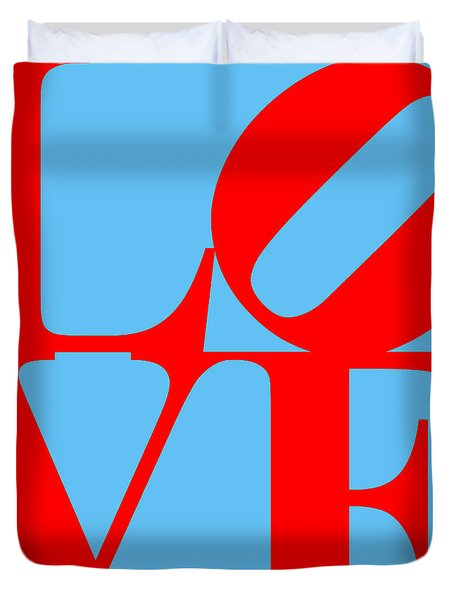 LOVE 20130707 Red Blue Duvet Cover by Wingsdomain Art and Photography