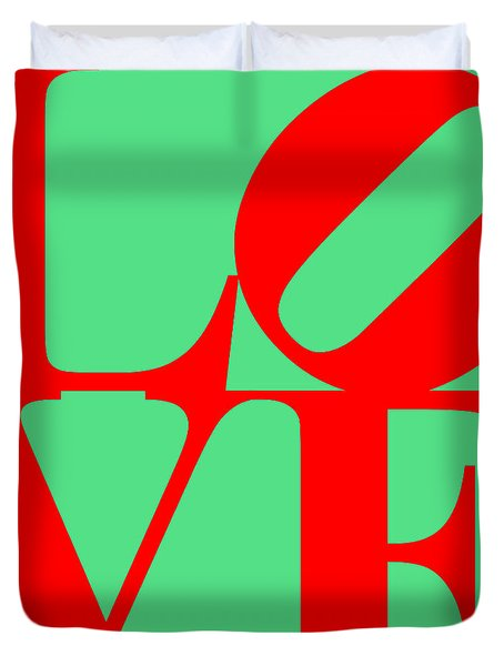 LOVE 20130707 Red Green Duvet Cover by Wingsdomain Art and Photography