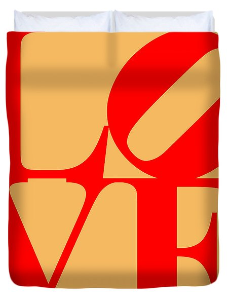 LOVE 20130707 Red Orange Duvet Cover by Wingsdomain Art and Photography