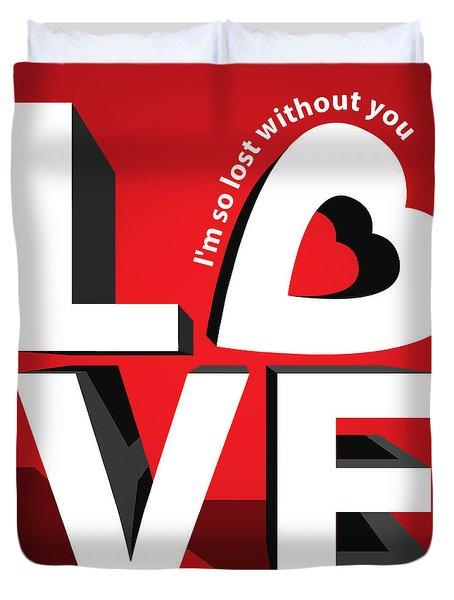 Love 3  Duvet Cover by Mark Ashkenazi