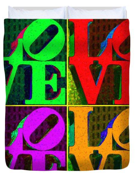 Love 4 Philadelphia - Painterly V4 Duvet Cover by Wingsdomain Art and Photography