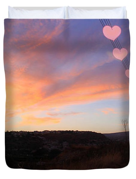 Love and Sunset Duvet Cover by Augusta Stylianou