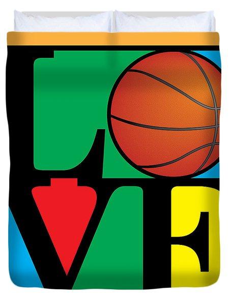 Love Basketball Duvet Cover by Gary Grayson
